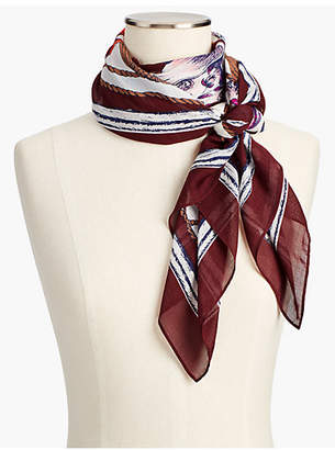 Talbots Tea Party Square Scarf