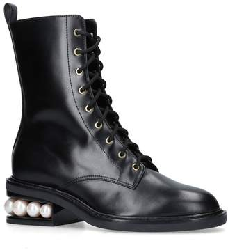 Nicholas Kirkwood Leather Casati Combat Boots