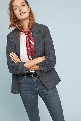 DREW Plaid Boyfriend Blazer