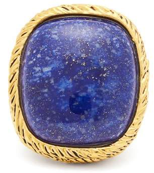 Aurelie Bidermann Gold Plated Miki Ring - Womens - Blue