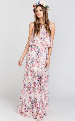 Show Me Your Mumu Princess Ariel Ballgown Maxi Skirt ~ Green Wedding Shoes Floral