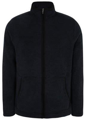 George Navy Zip-Up Fleece Jacket