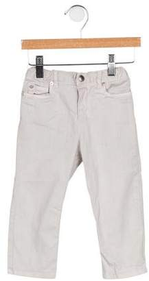 Christian Dior Boys' Leather-Trimmed Straight-Leg Jeans