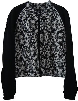 Ikks Black Cotton Leather Jacket for Women