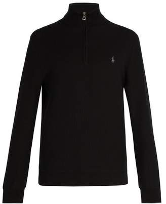 Polo Ralph Lauren Logo Embroidered Cotton Sweater - Mens - Black