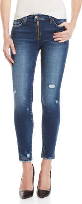 Flying Monkey Exposed Zip Distressed Jeans
