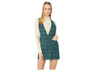 BB Dakota Plaid Influence Corduroy Pinafore Skirt