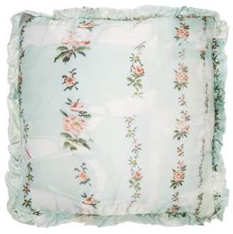 Preen by Thornton Bregazzi Floral Print Silk Cushion - Womens - Light Blue
