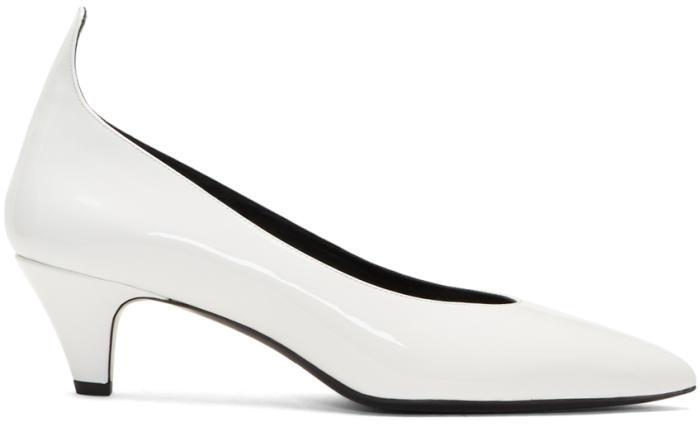 Calvin Klein 205W39NYC White Patent Kait Heels