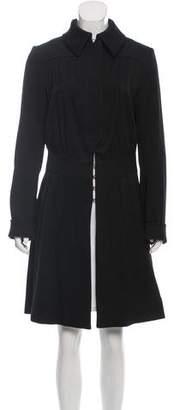 Derercuny Knee-Length Wool Coat