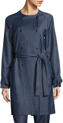 HUGO BOSS Women's Calrehna Denim Trench Coat