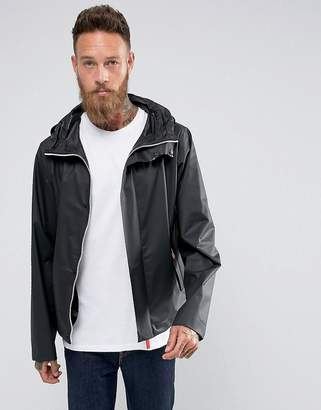 Hunter Hooded Raincheater Jacket in Black