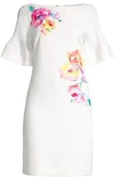 Trina Turk Women's Soujourn Classic Crepe Embroidered Dress - White Wash - Size 0