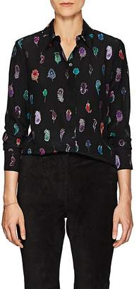 Altuzarra Women's Chika Feather-Print Silk Blouse