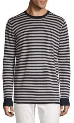 Scotch & Soda Striped Wool & Linen Sweatshirt