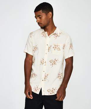 rhythm Barbados Short Sleeve Shirt Java