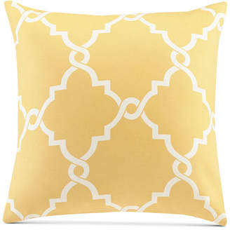 "Madison Park Saratoga Fretwork-Print 20"" Square Decorative Pillow"