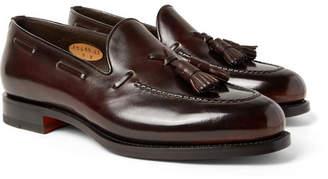 Santoni Polished-Leather Tasselled Loafers