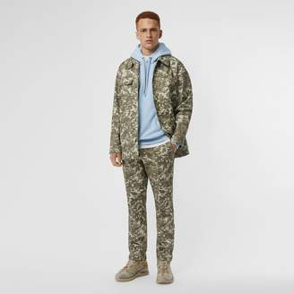 Burberry Camouflage Print Cotton Gabardine Jacket