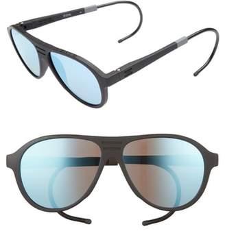 Toms Traveler Zion 58mm Polarized Aviator Sunglasses