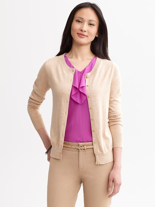 Jewel-button cardigan