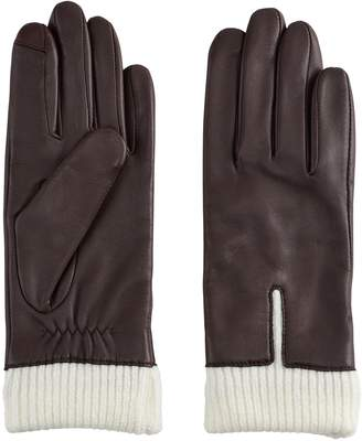 Apt. 9 Women's Knit Cuff Leather Tech Gloves