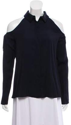 Cushnie et Ochs Cold Shoulder Button-Up Top