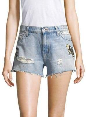 Hudson Distressed Denim Cut-Off Shorts