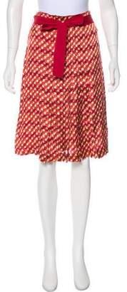 Tory Burch Polka-Dot Knee-Length Skirt