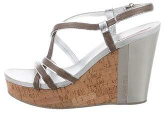 Prada Sport Ankle Strap Cork Wedges