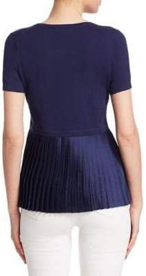 Saks Fifth Avenue Pleated Back Pullover