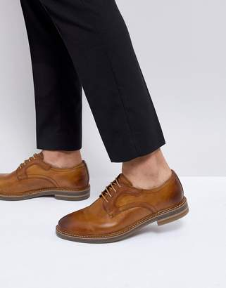 Base London Spencer Leather Derby Shoes in Tan