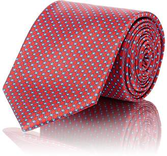 Barneys New York Men's Chain-Link-Pattern Silk Satin Tie