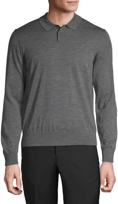 Ermenegildo Zegna Long-Sleeve Merino Wool Polo