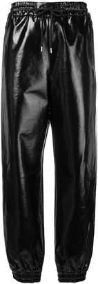 MSGM patent track pants