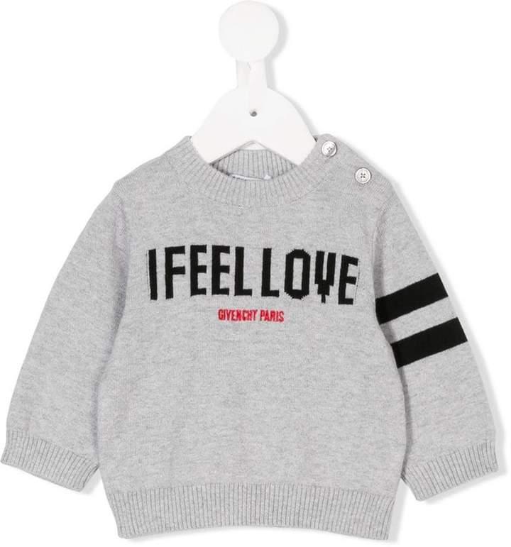 Givenchy Kids I feel love intarsia jumper