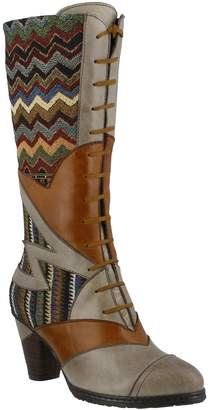 Spring Step L'Artiste Leather & Textile Boots- Malag