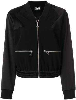 Karl Lagerfeld cropped bomber jacket