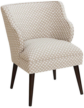 One Kings Lane Kira Accent Chair - Flax Dot