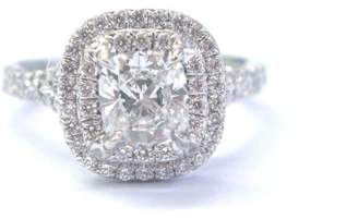 Tiffany & Co. Platinum Cushion Cut Diamond Soleste Engagement Ring