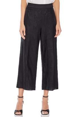 Vince Camuto Lace High Waist Wide Leg Crop Pants