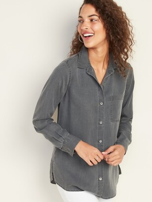 Old Navy Relaxed Tencel Shirt for Women