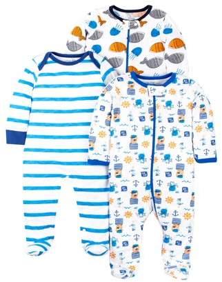 45339c745 N. Little Star Organic 100% organic cotton sleep 'n play pajamas, 3