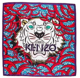 Kenzo Silk Printed Scarf Red Silk Printed Scarf