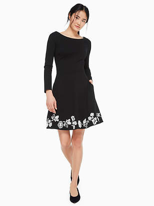 Kate Spade Embroidered ponte dress