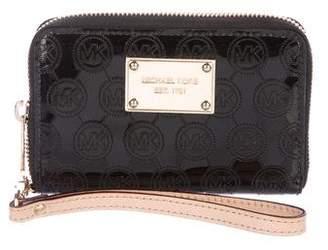 MICHAEL Michael Kors Monogram Patent Wristlet Wallet