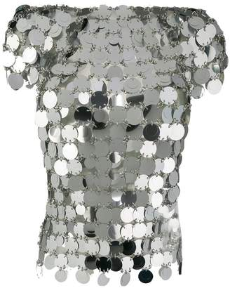 Paco Rabanne mirrored top