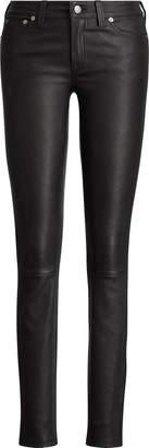 Ralph Lauren Stretch-Leather 5-Pocket Pant