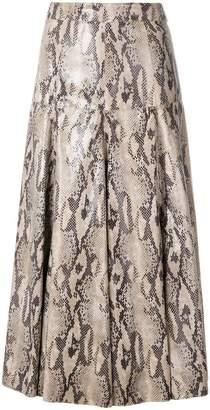 MSGM snakeskin effect skirt