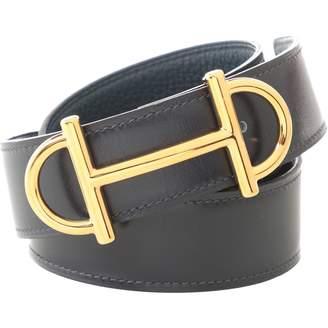 Hermes Boucle seule / Belt buckle Navy Leather Belts